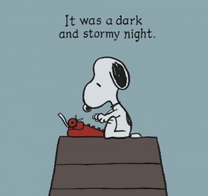 Snoopy_It_Was_Dark_And_Stormy_Night